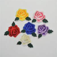 60pcs/lot New Embroidered Flower Rose Applique Iron on Sew on Patch Set for Clothing DIY
