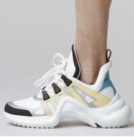 2020 Frauen Bogen Licht Sneaker Leder Trainer für Männer Frauen Kanye West Schuhe Art und Weise beiläufigen im Freienaufladungen mit Kasten