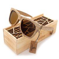 Gift Box BOBO BIRD AG007 LEGNO DA SOLE mano Natura in legno occhiali da sole polarizzati nuovo Eyewear Con Creative legno
