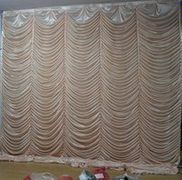 3M*3M wave backdrop Party Curtain Celebration Stage water ri...