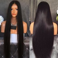 Full Lace Wigs Silky Straight Hair Pre- Plucked Natural Hairl...