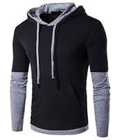 Hoodie dos homens Casuais Longo / Curto-Luva Slim-Fit Moletom Com Capuz Jaqueta Casaco de Lã Esportes Camisolas Designer de Treino Mens Zipper
