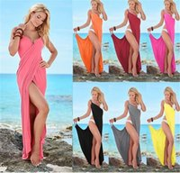 Clothing Maxi Bandage Dress Sexy Casual Candy Sleeveless Dre...