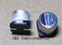 100 sztuk 16V 100UF 100UF / 16V 6.3x5.4mm SMD Aluminiowy kondensator elektrolityczny