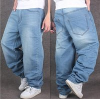 Plus Size Men' s Fashion Jeans Straight Plus size loose ...