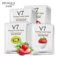 BIOAQUA V7 Toning Juventude Máscara Facial Hidratante Controle de Óleo Hidratante Nutritivo Máscara Facial Envolto Máscara Cuidados Com A Pele