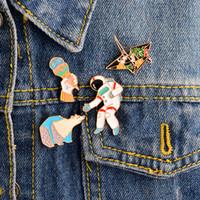 Bijoux broche broche pour femmes broches PINS MEN SET POLAR BEAR CRANS ASTRONAUT CRÈME Crème glacée En Émail Badges Dessin animé Animal Collection Party Anniversaire Saint Valentin