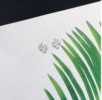 S 925 الفضة الاسترليني ترصيع الحساسية الحرة ترصيع لطيف الكرتون الجزرة الصبار وأقراط أرخص الأزرار 906