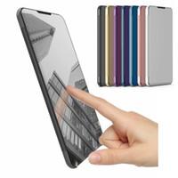 Housse Flip Case Honor 8x Smart View Couverture en cuir de miroir pour Huawei Honor 8x Max Stand Housse en cuir Honor8x Coque Téléphone Cas