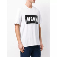 5 colors - High Quality 2018 Men Women MSGM T Shirt Summer Co...