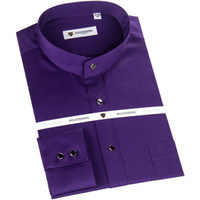 단색 남자 드레스 셔츠 패션 서 칼라 디자인 캐주얼 긴 소매 셔츠 100 % 코튼 Z1535