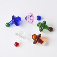 Hohe Qualität Bunte Glas UFO Carb Cap Durchmesser 23mm Für Quarz Banger Nagel Universal Bunte kugel Tupfen Rig Kostenloser Versand