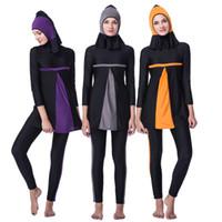 Costumi da bagno islamici a maniche lunghe musulmano di alta qualità costumi da bagno islamici Costumi da bagno islamici da spiaggia Islam Islamici Costumi da bagno