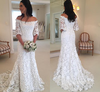 New Arrival Sexy Full Lace 2018 Mermaid Wedding Dresses Off ...