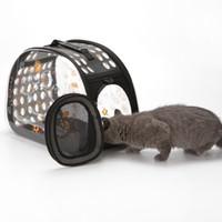 Caja de viaje Bolsas para mascotas Bolsas Caja de aire Mascotas Salientes Suministros para gatos Mochila transpirable transparente para mascotas