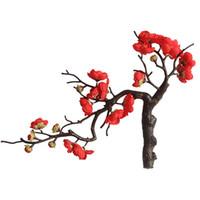 24cm 중국어 매화 훼이 인공 꽃 벚꽃 홈 가구 장식 웨딩 의식 시뮬레이션 실크 꽃