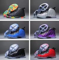 buy popular 2cc92 61ccc New Kids Penny Hardaway Fruity Pebbles Olímpicos EE. UU. Berenjena Royal  Basketball Shoes Barato Chicos Chicas Air Foam One Zapatillas de deporte en  venta
