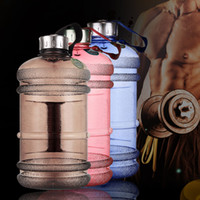 2. 2L Large Capacity Water Bottles Outdoor Sports Gym Half Ga...