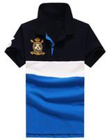 스트 라이프 폴로 셔츠 빅 호스 패션 남성 폴로 셔츠 브랜드 폴로스 고급 남성면 의류 블랙 / 블루