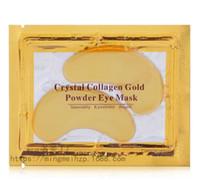 Nuovo cristallo occhio del collageno maschere anti-borse idratante maschere maschere occhio anti-invecchiamento collagene oro maschera per gli occhi in polvere