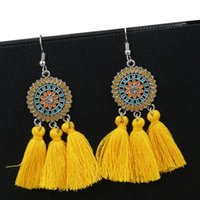 Fashion Bohemian Ethnic Fringed Tassel Earrings For Women Si...