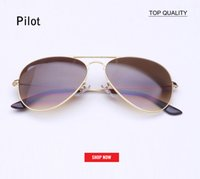 Hot new Classic Brand Aviation lentes de cristal Gradient sunglasses hombres mujeres uv400 gafas de sol Male 58mm 62mm lente gafas de sol mujer sunglass