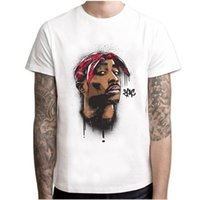 Mens Music T Shirt do artista Jay 2Pac Savage Impresso Hip Hop Masculino Branco Casual Top