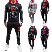 Men' s Sports Suit Hooded Casual Wear Long Sleeves Fashi...