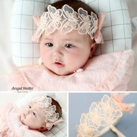 Baby hair band butterfly lace hair accessories baby headdres...