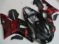 Hochwertiges Verkleidungskit für YAMAHA YZF R1 1998 1999 rote Flammen in schwarzen Verkleidungen YZF R1 98 99 QR56