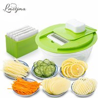Mandolina Vegetable Slicer Dicer Fruit Cutter Slicer con 4 cuchillas de acero inoxidable intercambiables Potato Slicer Tool