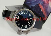 Yeni Classico 55 U-1001 Siyah Kadran Ve Lastik Bant Erkek Otomatik Hareketi WatchTransparent Geri erkek Casual Saatler