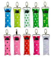 Chevron Lipstick Holder Polka Dots Chapstick Holder Keychain...