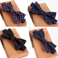 Designer cravate haute qualité mode 2017 homme chemise accessoires marine noeud papillon pour mariage hommes en gros noeud papillon