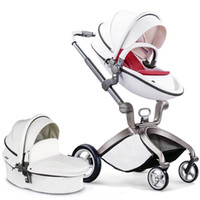 Hotmom Classic High Landscape PU Leather Baby Stroller 2 in ...