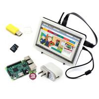 Freeshipping Raspberry Pi 3 Modello B Confezione F con Raspberry PI 7inch HD-MI 1024 * 600 IPS Bicolore LCD Bicolore 16GB S-D-ARD Adattatore di alimentazione