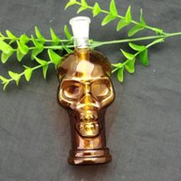 2019Colored skull glass water bottle Glass Bbong Wwater Pipe...