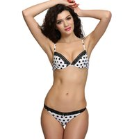 Women' s Push up Bra with Matching Panties Sexy Dot Bra ...