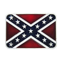 Men Belt Buckle New Vintage Classic Rebel Confederate Flag R...