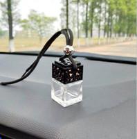 Al por mayor de EE.UU. Reino Unido 6 ml de coches infusor Ambientador para el coche Decoración perfume del aceite esencial de la botella vacía cuerda de la caída Botellas colgante del difusor