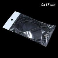 500パック9x17 cmの自己シールOPPポリプラスチック包装袋USBケーブルのための穴の自己接着性の電子製品収納袋