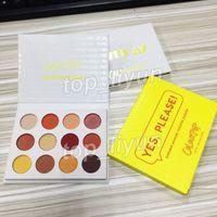 Makyaj ColourPop 12 renk Göz farı sıkıştırılmış pudra gölge paleti evet, lütfen! göz farı seni seviyorum düşünüyorum Colourpop Pırıltılı Mat palet