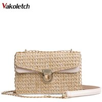2018 Bohemian Style Straw Bags for Women Small Beach Handbag...