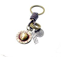 New Metal key chains for crafts factory Outlets Punk Leather...