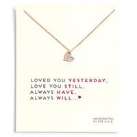 DogeRed Love Coeur Card Colliers de cou de Card avec Carte Gold Argent Coeur Pendentif Colliers pour femmes Bijoux Cadeaux Je t'aime