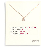 Dogeared Love Heart Gargantilla Collares con tarjeta Collares colgantes de corazón de plata de oro para mujeres Regalos de joyería Te amo