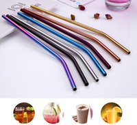 Stainless Steel Straw Drinking Reusable metal Colorful milk ...