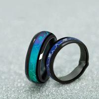 Mode Titan Black Mood Ringe Emotion Temperatur Gefühl Verlobungsringe für Frauen Männer Schmuck Versprechen Ringe für Paare 10pcs