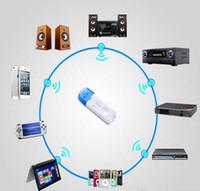 Бесплатная доставка синий беспроводной USB Bluetooth аудио музыка приемник адаптер для автомобиля Главная спикер MP4 Оптовая