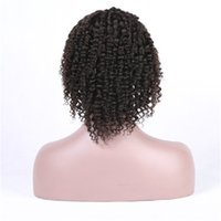 Full Lace Human Hair Wigs Kinky Curly Natural Color Glueless...